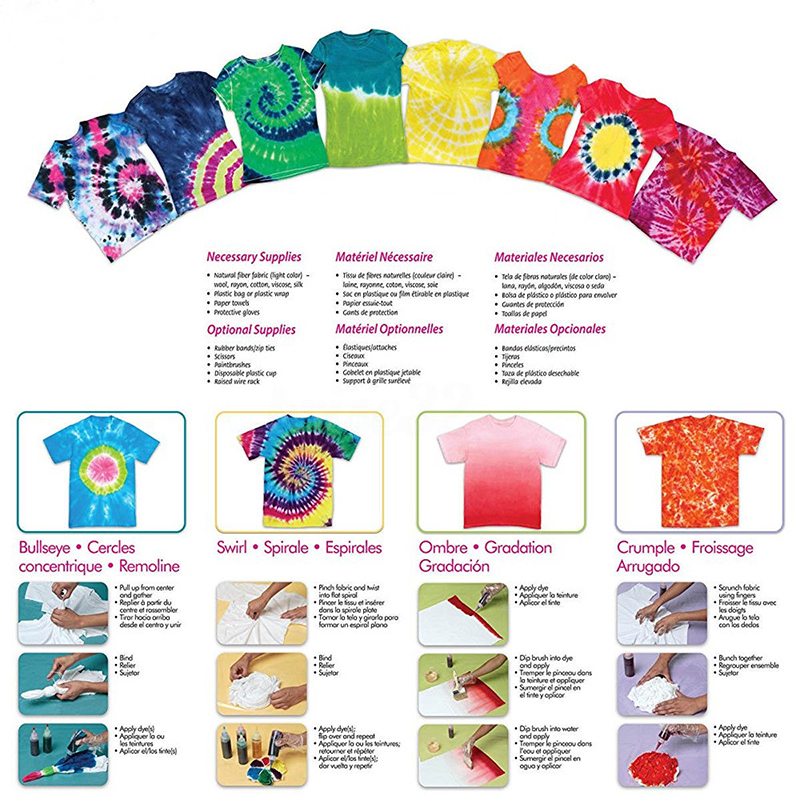 50 Pcs/set Tie Dye Kit Tattoo Ink Dye Temporary Tattoos Ones Te Ptie Permanent Fabric Paint Paint Colors For Clothes Clothing