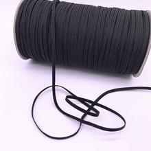 Nowy 3-12mm 5 m lot czarny wysokość opaski elastyczne szpula szycia zespół gładkie elastyczne przewód czarny Diy akcesoria do rękodzieła tanie tanio BBRRXWYCGT CN (pochodzenie) Elastic Spandex Satin
