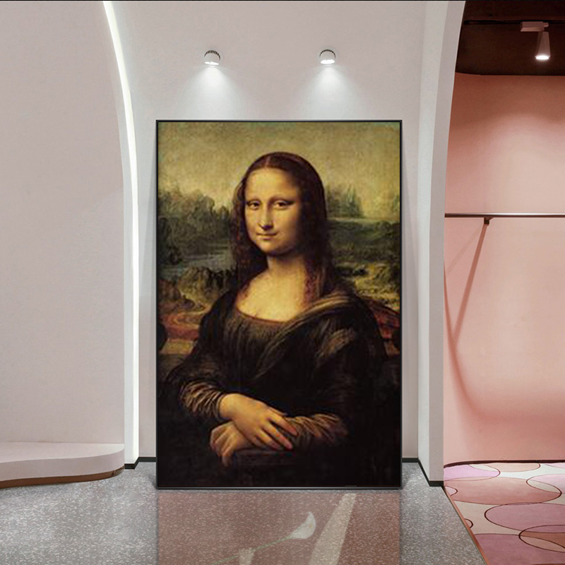 Canvas Printing Modern Decoration Portrait Mona Lisa's Smile Picture For Living Room Print And Poster Wall Art Unframed