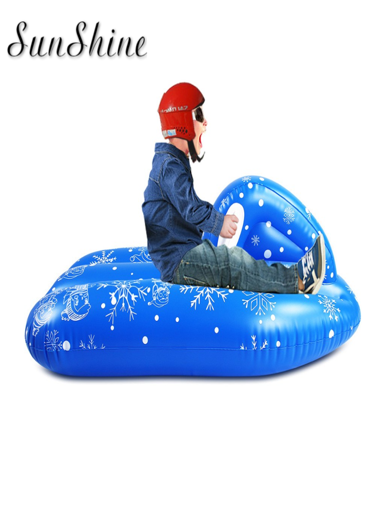 Snow-Boat Inflatable-Snow-Tube Kids PVC for Winter Skating Sled Toy Floated Large