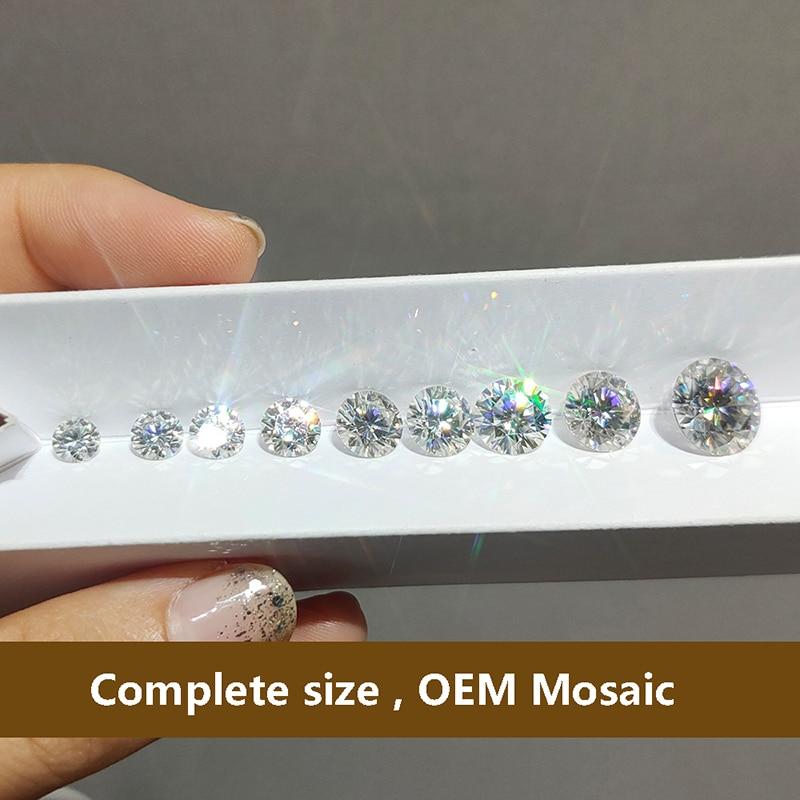 D Color Round Brilliant Moissanite 4ct Carat Excellent Cut Loose Stone VVS1 jewelry Lab diamond ring material