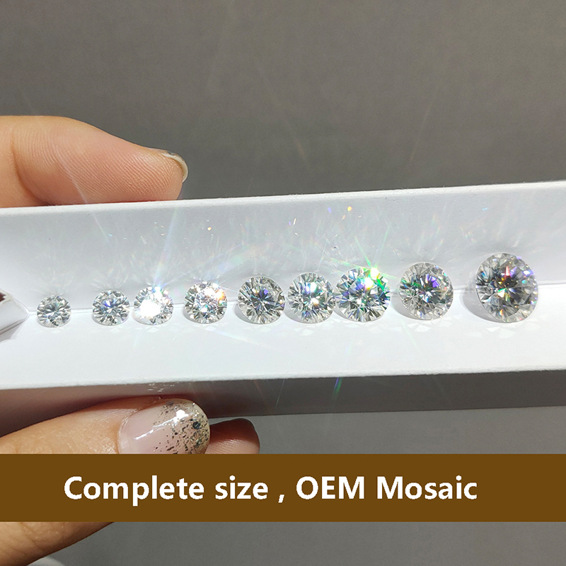 D Color Round Brilliant Moissanite 4ct Carat Excellent Cut Loose Stone VVS1 jewelry Lab diamond ring material