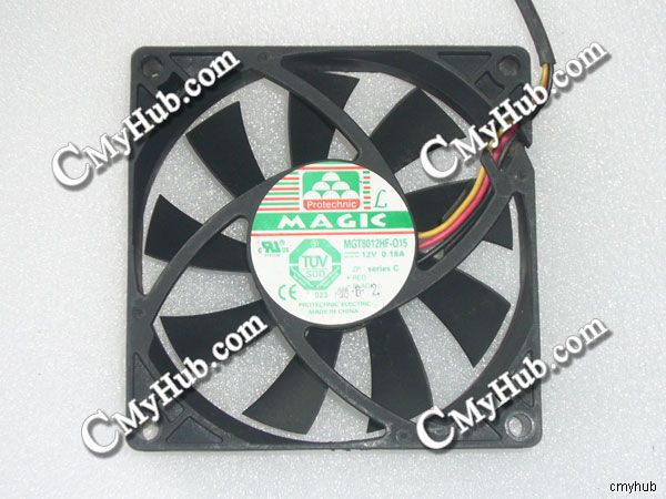 For Protechnic MGT8012HF-015 DC12V 0.18A 8015 8cm 80mm <font><b>80x80x15</b></font> 3Pin 3Wire Cooling <font><b>Fan</b></font> image