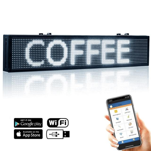 Electronics LED Sign Scrolling Car Sign Wireless Control Advertising LED Message Board for Car Bus Truck, DC9-36V