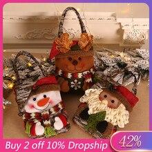 Лучшие продажи продуктов Санта Клаус подарочные сумки веселые рождественские сумки для конфет снеговик декоративный подарок кухонные аксессуары