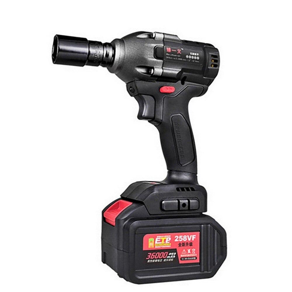 Llave de impacto eléctrica de NM inalámbrica sin escobillas potente para tornillo de 30mm 5/8mm LED luz destornillador eléctrico herramienta eléctrica