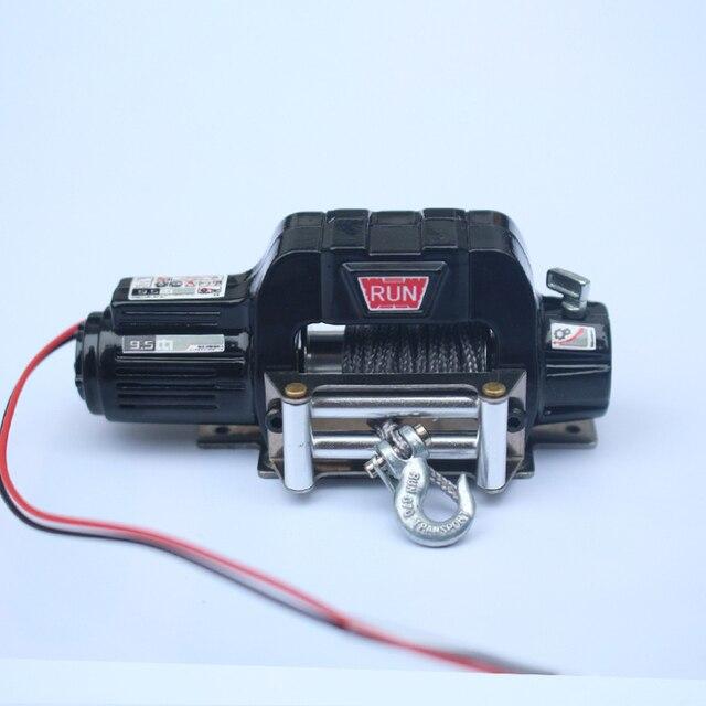 Treuil électrique en métal de contrôle sans fil de voiture de RC pour la voiture de chenille de 1/10 RC Traxxas TRX4 TRX6 SCX10 90046 TF2 CC01 D90 accessoires de bricolage