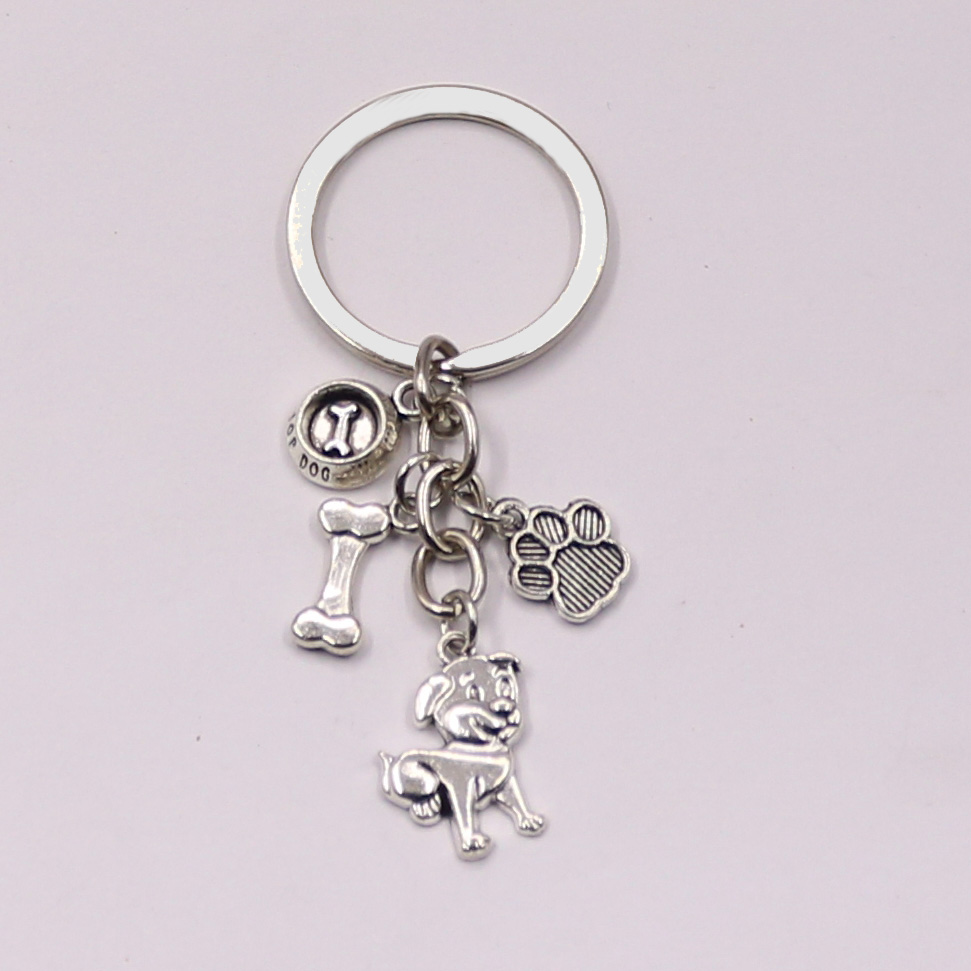 1pcs Dog Bone Dog Paw Alloy Key Chain For Women Girl Bag Keychain Charm Pendant Jewelry Aceessories Gift For Dog Lover