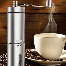 Ручная портативная кофемолка DEKO, регулируемая керамическая мельница для кофейных зерен, кухонные инструменты из нержавеющей стали