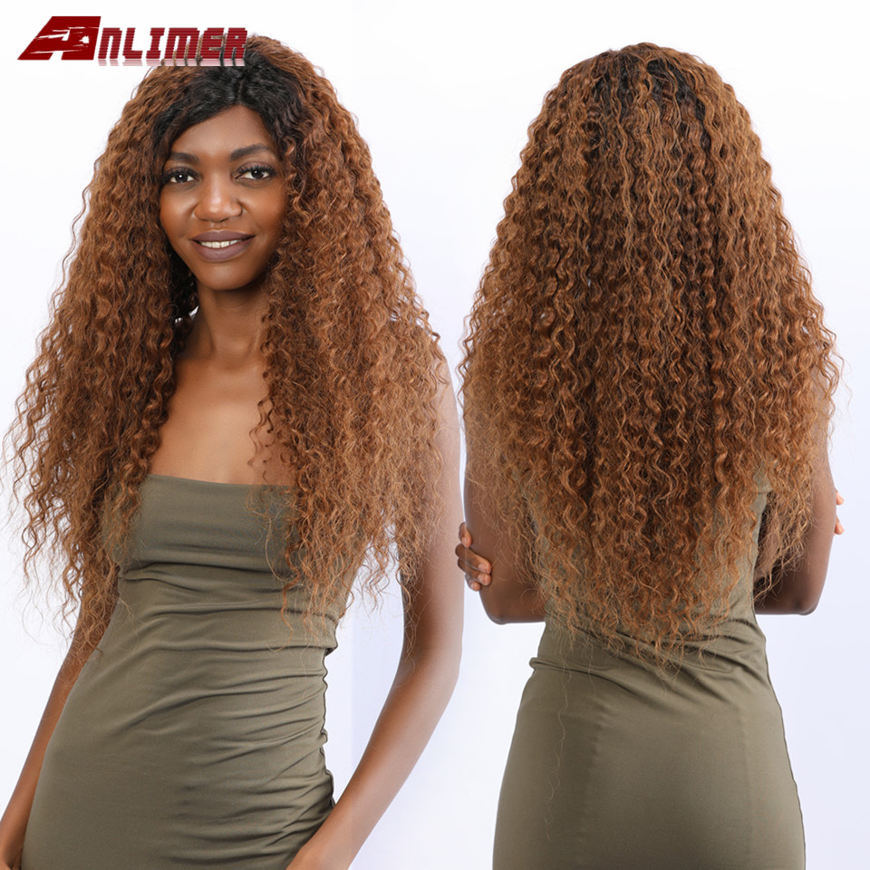 1B 30 Curly Brazilian Remy 13x6 Deep Parting Lace Wig Ombre Brown 13x4 Lace Front Human Hair Wigs With Baby Hair Bleached Knots