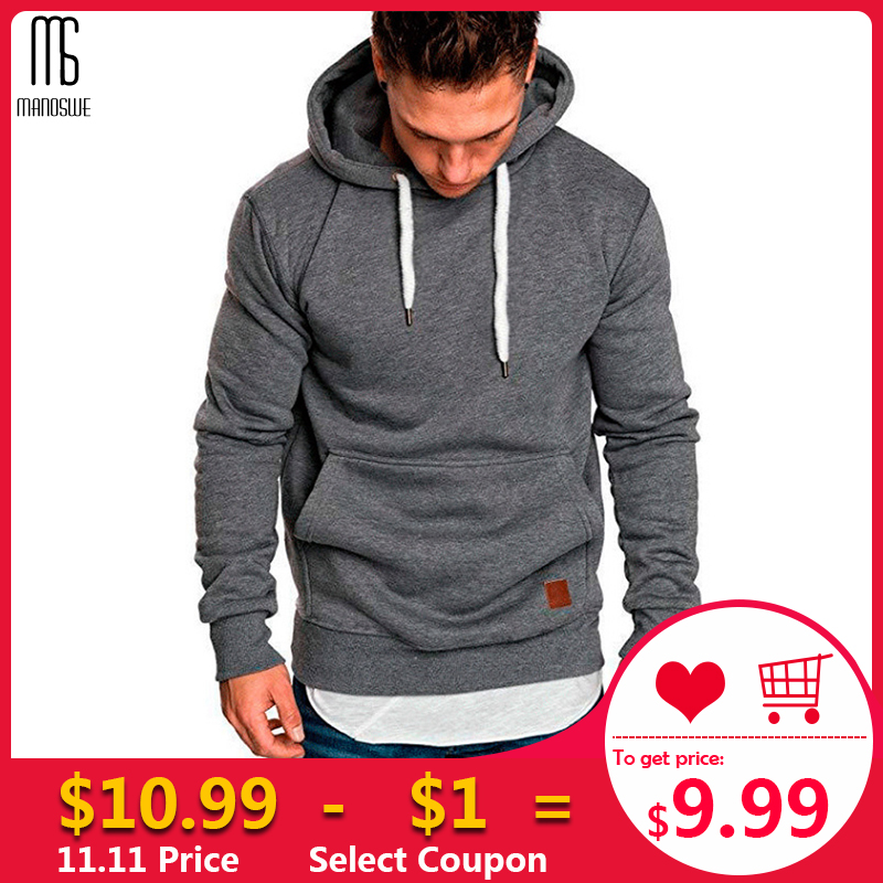 Manoswe Autumn Winter Casual Men Hoodies Coat Outdoor Sweatshirt Tracksuits 2019 New Fashion Solid Color Fleece Hoodie Oversize