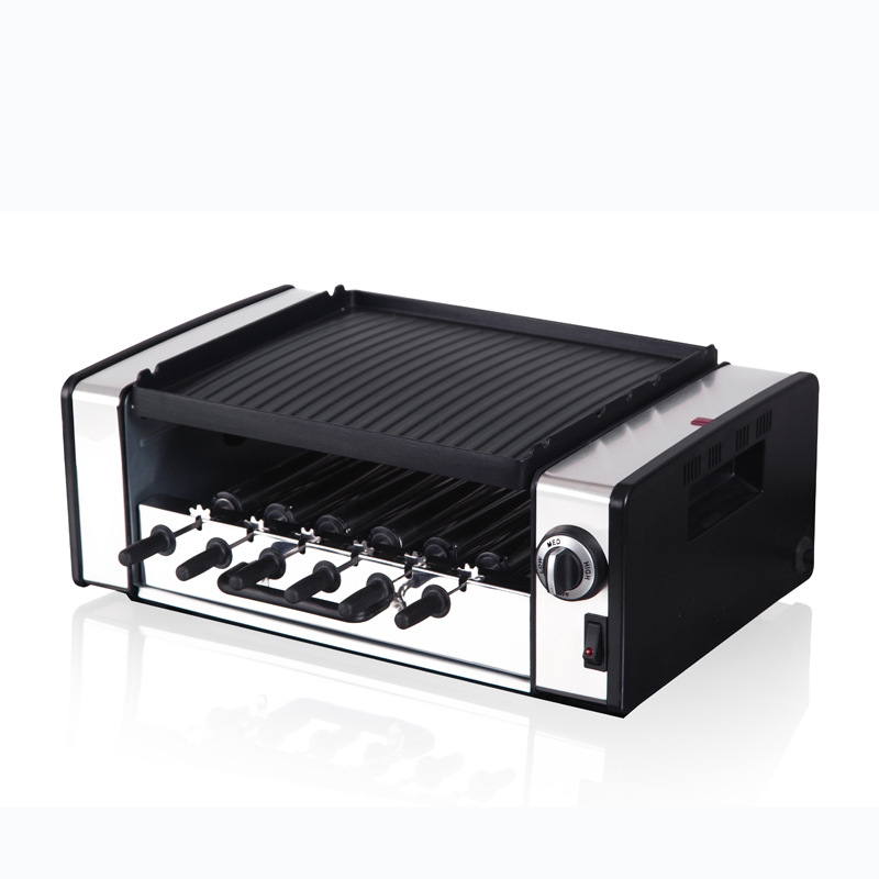 1200W On The Frying Roast Automatic Rotating Barbecue Multi-function Double Home Dormitory Outdoor Mini Electric Grill