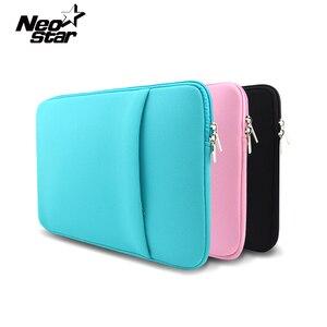 """Image 1 - Luva macia saco do portátil caso para macbook ar pro retina 13 11 15 14 """"para mac bolsa capa para notebook telefone mouse adaptador cabo"""