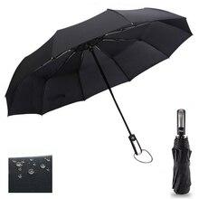 Ветронепроницаемый складной автоматический зонт от дождя для женщин, роскошные большие ветрозащитные зонты для мужчин, ветронепроницаемый Зонт 10 к