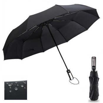 Wind Resistant Three Folding Automatic Umbrella Rain Women Auto Luxury Big Windproof Umbrellas Men Frame Windproof 10K Parasol - DISCOUNT ITEM  64% OFF All Category