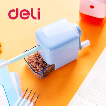 Deli 1PCS Creative Cute Cartoon Automatic Pencil Sharpener Students Learn Stationery Children's Pencil Sharpener Red/Blue deli stationery pencil sharpener office