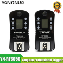 YONGNUO RF 605C RF 605N 2.4GHz Wireless Flash Trigger LCD Screen TX/RX Remote Control Shuttle Release for Canon Nikon Pentax