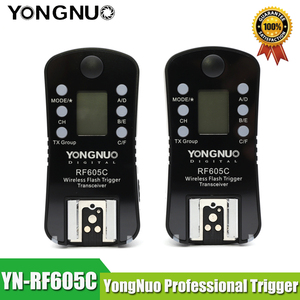 Image 1 - YONGNUO RF 605C RF 605N 2.4GHz Wireless Flash Trigger LCD Screen TX/RX Remote Control Shuttle Release for Canon Nikon Pentax
