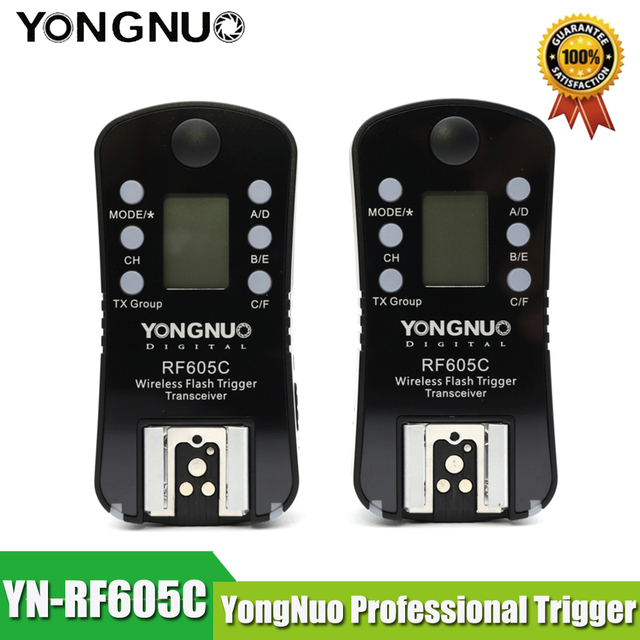 YONGNUO RF 605C RF 605N 2.4GHz Wireless Flash Trigger LCD Screen TX/RX Remote Control Shuttle Release for Canon Nikon Pentax