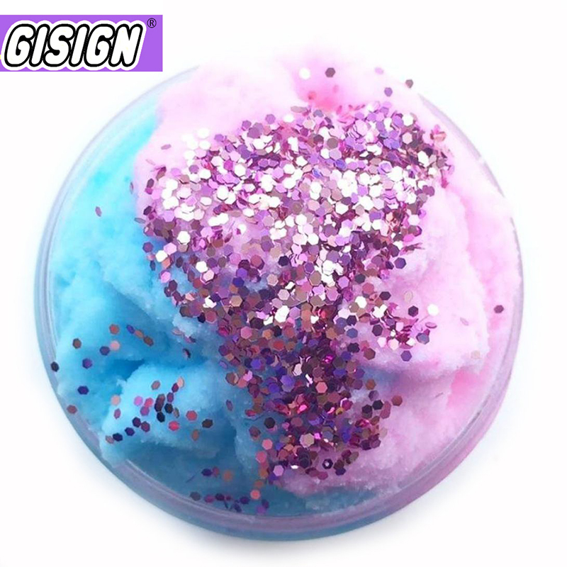 60ml Cloud Slime Fluffy Supplies Polymer Clay Charms Slime Glitter Playdough Magic Colored Sand Plasticine Toys For Children(China)