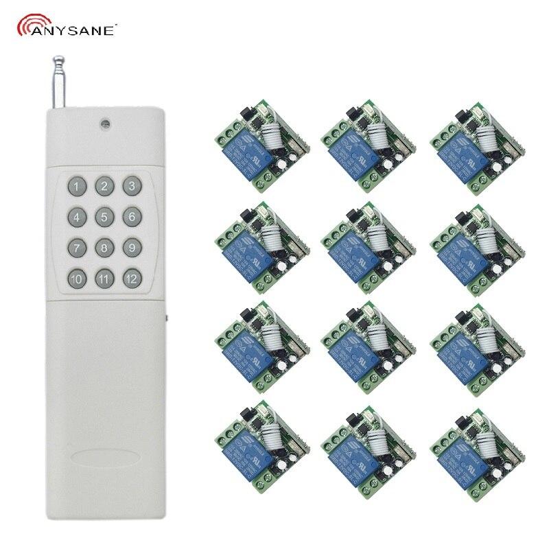 ユニバーサル 433 433mhz の rf ワイヤレスリモコン DC12V RF リレー受信機と長距離トランスミッタ EV1527 ラジオライトスイッチパック  グループ上の 家電製品 からの リモートコントロール の中 1