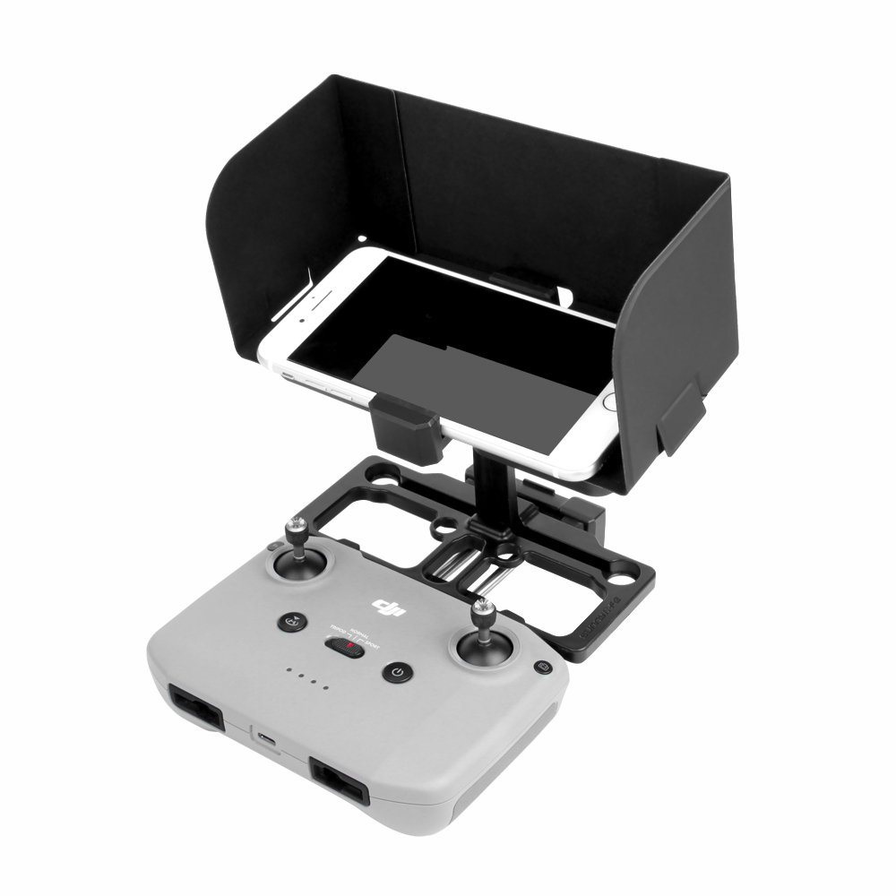 Smartphone Tablet Monitor Holder Mavic Mini Air 2 Pro Spark Dron Remote Control Bracket Stand with Sun Hood for DJI Drones