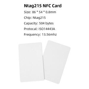 Image 2 - 50pcs NTAG215 NFC การ์ดสำหรับ TagMo Forum Type2 NFC Ntag 215 ชิป 504 ไบต์อ่านเขียนฟรีการจัดส่ง
