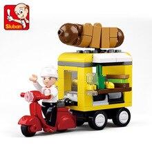 Sluban 0565 City Urban Hot Dog Vans Car Building Blocks Car Model Bricks Educational Toys Compatible legoingly for Children все цены