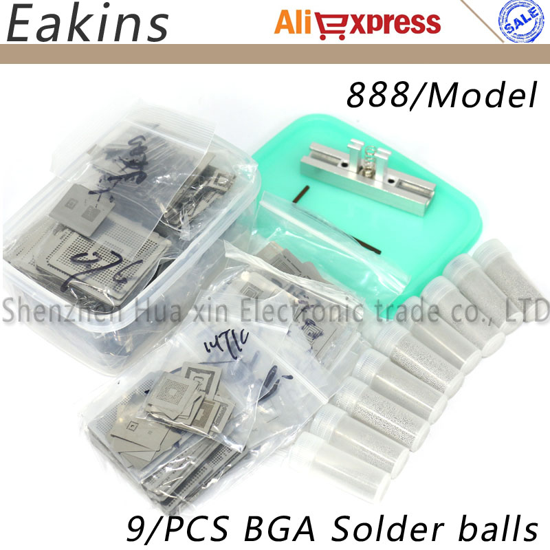 New Upgrade 888/modls BGA Stencil Bga Reballing Stencil Kit With Direct Heating Reballing Station Replace+9/PCS BGA Solder Balls