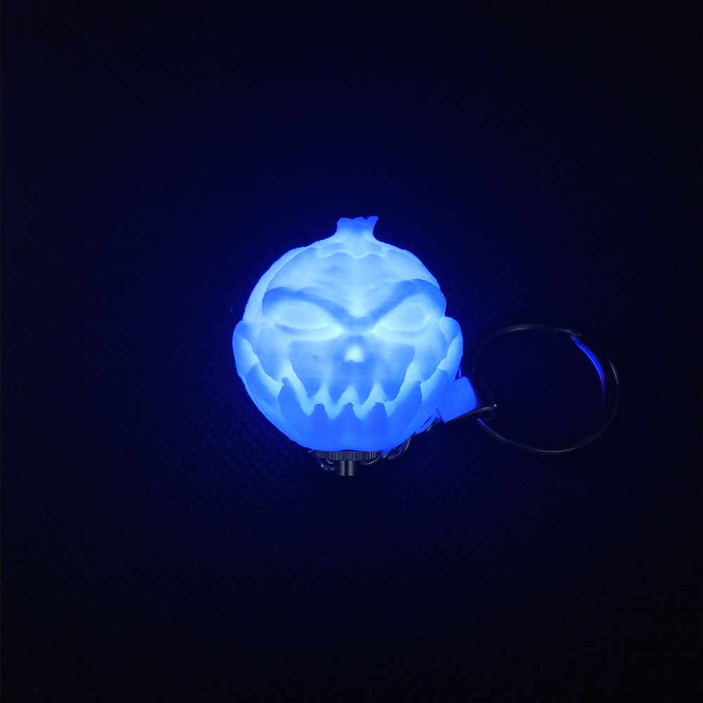 3D mignon impression porte-clés veilleuse coloré lune lampe puissance par AG3 batterie cadeau de noël