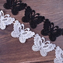 Lace-Fabric Craft Ribbon-Width Embroidered Applique Butterfly Wedding-Sewing Handmade