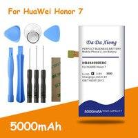 5000mAh HB494590EBC batería para Huawei Honor 7 G620 G628 Honor7 Gloria PLK-TL01H ATH-AL00 PLK-AL10 baterías + herramientas libres