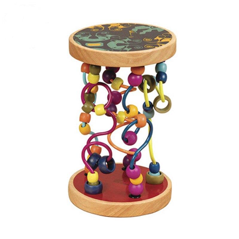 Garçons filles montessori jouets en bois cercles en bois perle fil labyrinthe montagnes russes éducatifs bois Puzzles enfant jouet