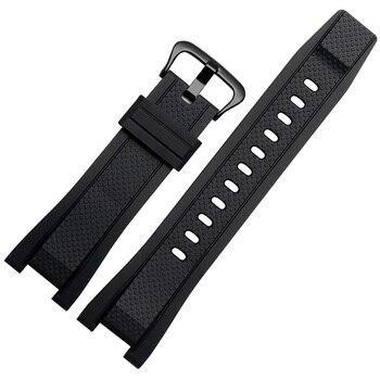 Rubber watchband for Casio G SHOCK GST Series GST-210/W300/400G/B100 Waterproof Silicone watch band men straps Accessories 26*14 casio g shock g steel gst w300 1a