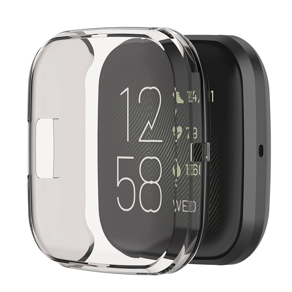Мягкий чехол Rondaful из ТПУ Для Fitbit Versa 2 Versa Lite Band, водонепроницаемый чехол для часов, Защитная пленка для экрана для Fitbit Versa Смарт-аксессуары      АлиЭкспресс