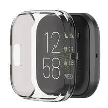 Мягкий чехол Rondaful из ТПУ Для Fitbit Versa 2 Versa Lite Band, водонепроницаемый чехол для часов, Защитная пленка для экрана для Fitbit Versa