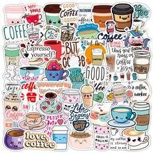 50 adesivos bonitos do café dos pces para cadernos de papelaria scrapbooking material personalizado adesivos estéticos kscraft adesitos