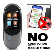 F1 Smart Portable Double MIC Voice Translator Real Time Offline Translation 65 Languages 150H Standby Noise Reduction Translator