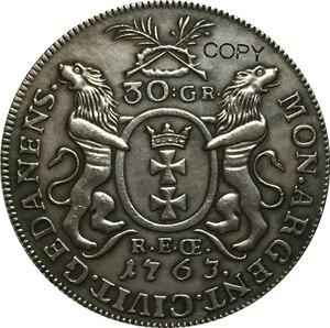 Копии монет из Польши, 33 мм, 1763