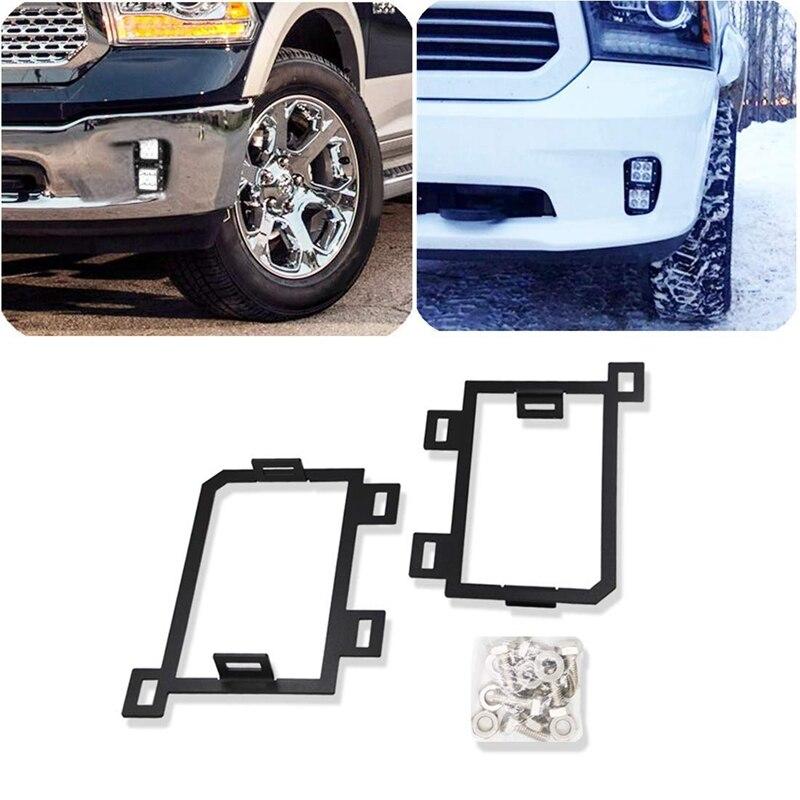 LED Fog Light Front-Hidden Bumper Mounting Brackets For Dodge Ram 1500 2013-2018 For 3 Inches LED Light Cubes