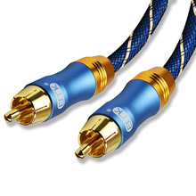 RCA to Male Digital Coaxial Cable Stereo Audio OD8.0 6.0 Braided 3m 5m 10m Video for TV Amplifier