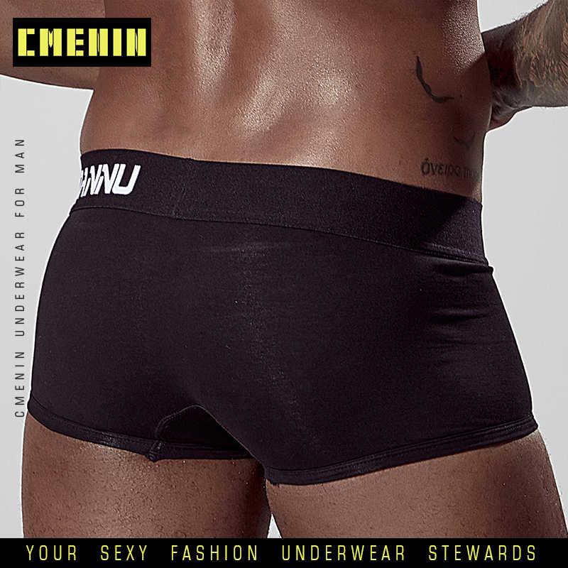 גזעי כותנה לוגו רך סקסי גברים תחתונים בוקסר אופנה ארוך בוקסר Mens Boxershorts Underware מתאגרפים ביקיני AD125