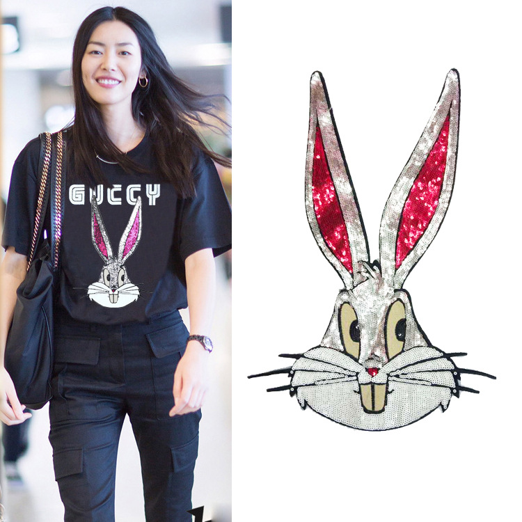 Clothing Accessories Applique Lace Sequins Chapter Animal G Bugs Bunny Cloth Patches