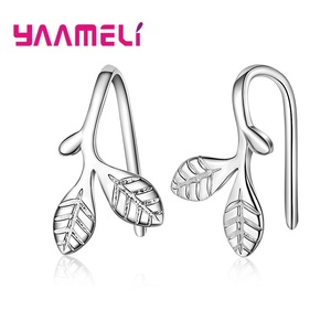 Wholesale Fashion Tree Leaf Stud Earrings for Women Girls Kids Party Gift Pendientes Brincos Prevent Allergy Jewelry