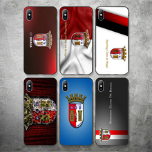 Phone Case For Sporting Braga FC Case For iPhone Shell DIY Picture Black Soft TPU Cover For Braga X XR XS MAX 7 8 7plus 6 6S 5S