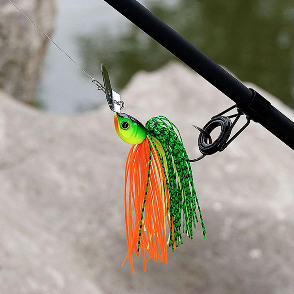 Original Micro Chatterbait 14g Chatter Bait Fishing Lure  Pike Bass Fishing Lure Buzz Bait Buzzbait-0