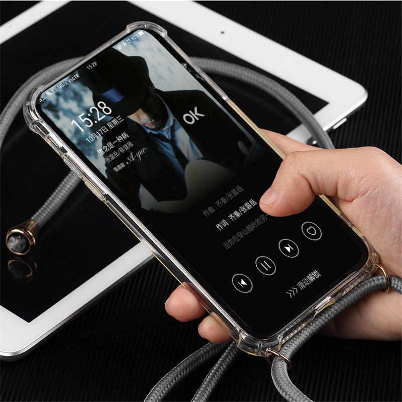 רצועת כבל שרשרת טלפון כיסוי הערה 8 9 10 פרו קלטת שרשרת שרוך נייד טלפון מקרה לסמסונג גלקסי A10S a20S A7 M20 M30 A51