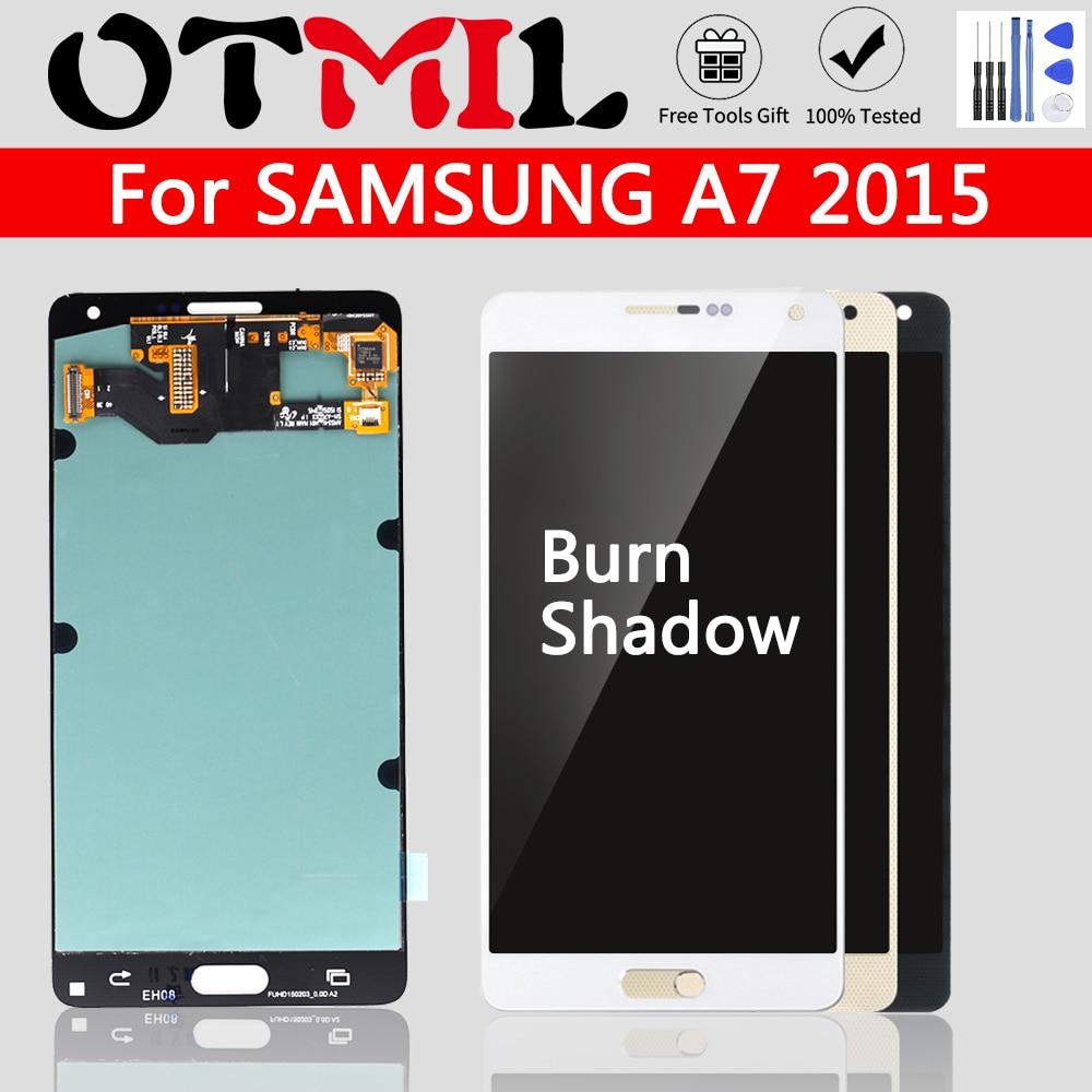 Burn Shadow Original LCD For SAMSUNG Galaxy A7 LCD Touch Screen Digitizer For SAMSUNG A7 2015 Display A7 2015 A700H A700F A700FD