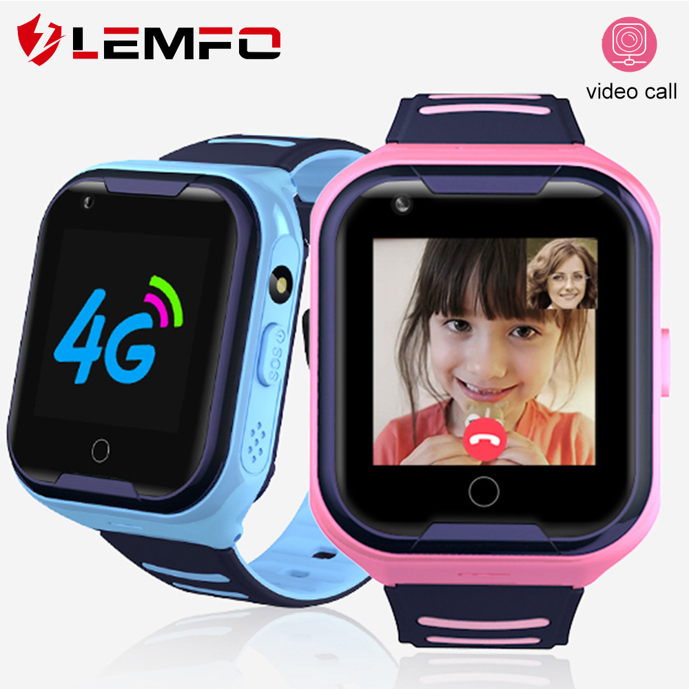 LEMFO Kids Smart Watch 4G SIM Card GPS WIFI Location Video Call Remote Call Back Monitor 650mah Battery Boy Girl Baby Watch
