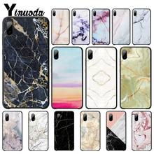 Yinuoda Glossy Granite Stone Cover Luxury Case For Iphone 5s Se 6 6s 7 8 Plus X Xs Max Xr 11 Pro Max Mobile Phone Accessories black cover darling in the franxx for iphone x xr xs max for iphone 8 7 6 6s plus 5s 5 se super bright glossy phone case